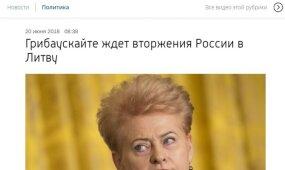 Grybauskaitės interviu tapo Kremliaus ruporų taikiniu: ar Lietuva laukia invazijos?