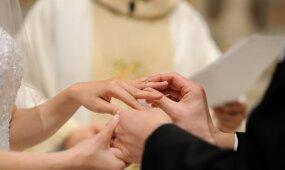 Aktualu planuojantiems vestuves: santuokai bažnyčioje krikšto nepakaks