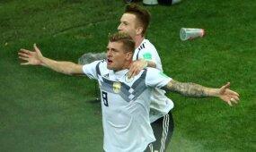 Dramatiška vokiečių pergalė išsaugo pasaulio čempionų kailį