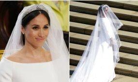 Pasaulis pagaliau pamatė iki vestuvių paslaptyje laikytą Meghan Markle suknelę