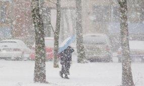 Į Lietuvą atkeliauja pūga, talžys stingdantis vėjas