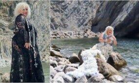 Filmuodama vaizdo klipą Daina Bilevičiūtė neišvengė nuotykių: ropštėsi olomis, maudėsi su vakarinėmis sukniomis