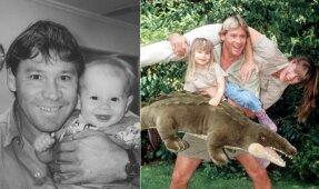 Steve'as Irwinas su šeima'