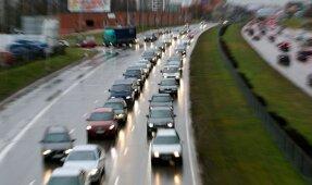 Prieššventinės eismo grūstys Vilniuje'