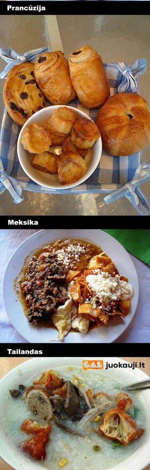Kaip atrodo pusryčiai įvairiausiuose pasaulio kampeliuose: Lietuva jus sužavės