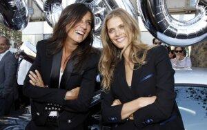 "Prancūziškojo ""Vogue"" redaktorė Emmanuelle Alt ir supermodelis Malgosia Bela"