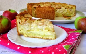 Netradicinis, bet labai skanus obuolių pyragas