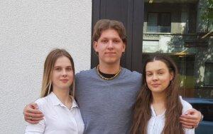 Nuotraukoje: renginio organizatoriai Agnė Pociūtė (kairėje), Paulius Zasčiurinskas ir Kristina Večerskytė.