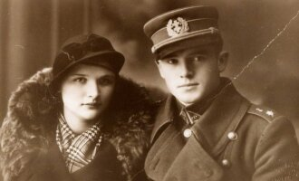 Captain Jonas Noreika - Genera Vėtra with his future wife c. 1936, Photo LGGRTC