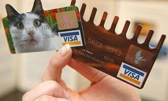 """Netradicinės """"Visa"""" mokėjimo kortelės"""