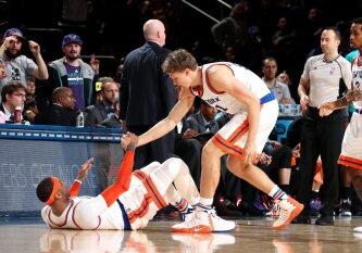 """M. Kuzminskas: norėčiau, kad C. Anthony liktų Niujorko """"Knicks"""" komandoje"""