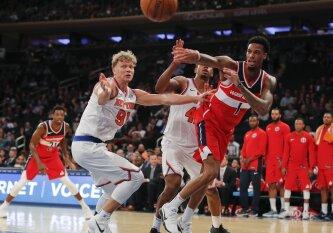 """Į aikštę grįžęs M. Kuzminskas įžiebė spurtą, bet neišgelbėjo """"Knicks"""" nuo pralaimėjimo"""