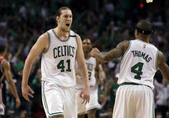 """Iššovusio K. Olynyko ir I. Thomaso duetas išvedė """"Celtics"""" į Rytų konferencijos finalą"""