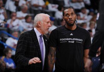 """Konkurentų sprogdintų fejerverkų šešėlyje likę """"Spurs"""" išsaugojo lygos favoritų statusą"""