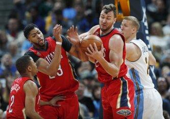 """""""Pelicans"""" be D. Cousinso sutriuškino Denverio ekipą, D-Mo sužaidė vienas geriausių sezono rungtynių"""