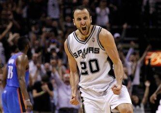 """Veteranas nepailsta: 39-erių E. Ginobili dar sezoną žais """"Spurs"""" gretose"""