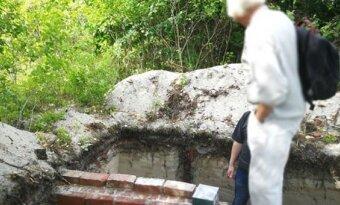 Tyrimų metu atidengtas šio XIX a. pab-XX a. pr. stovėjusio pastato pamatų kampas.