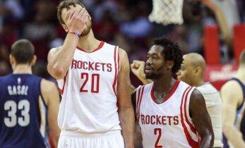 """D. Motiejūnas iškrito iš """"Rockets"""" rikiuotės ir praleido pirmą mačą šiemet"""