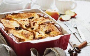 Pats lengviausias obuolių pyragas