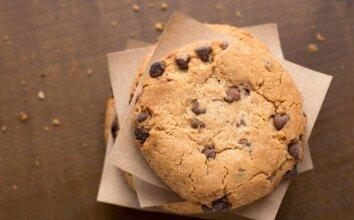 Sviestiniai sausainiai su šokoladu