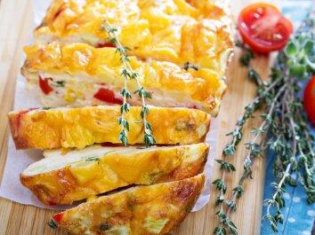 Sūrio suflė su daržovėmis