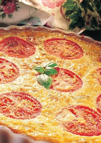 Sūrio apkepas su pomidorais