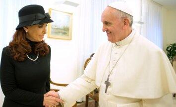 Cristina Kirchner ir popiežius Pranciškus