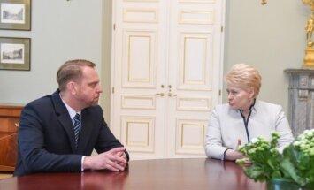 Nerijus Meilutis, Dalia Grybauskaitė