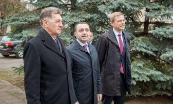 Algirdas Butkevičius, Gruzijos premjeras Iraklis Garibašvilis, Remigijus Šimašius