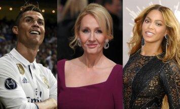 Cristiano Ronaldo, J. K. Rowling, Beyonce