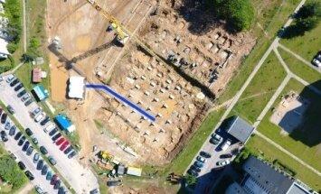 Vilniuje pradėtas statyti naujas baseinas (V. Skaraičio nuotr.)