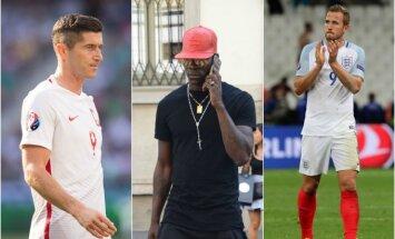 Robertas Lewandowskis, Mario Balotelli, Harry Kane'as (Sipa ir AP nuotr.)