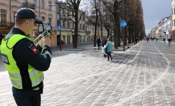 Policininkai matavo dviratininkų greitį