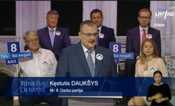 Kęstutis Daukšys during the TV debate