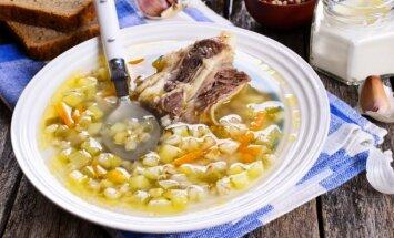 Kaimiška perlinių kruopų sriuba