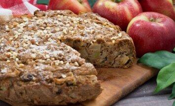 Tobulai skanus obuolių pyragas su cinamonu