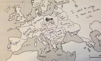 Europos žemėlapis pagal amerikiečius