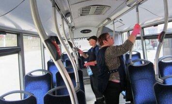 Dezinfekuos autobusus ir troleibusus
