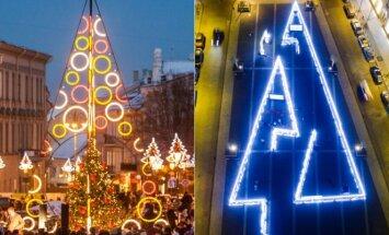 Kalėdiniai papuošimai Rotušės aikštėje