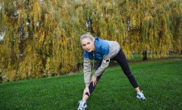 Moteris sportuoja