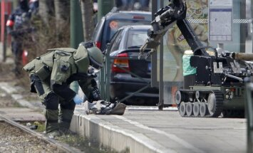 A counter-terrorism police operation in Brussels