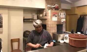 Pietų pertrauka tikroje japonų virtuvėje, apie kurią sužinoma tik iš lūpų į lūpas