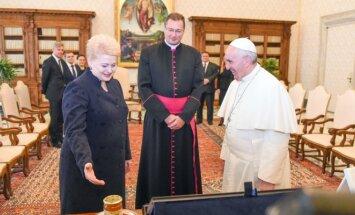 Dalia Grybauskaitė susitiko su popiežiumi Pranciškumi