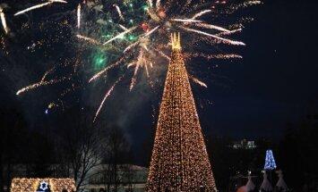 Įžiebta didžioji Druskininkų Kalėdų eglė, prakartėlė ir 46 eglučių parkas