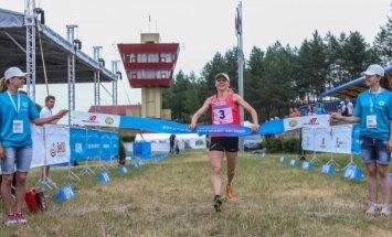 Laura Asadauskaitė-Zadneprovskienė finišuoja (A.Ružečkos nuotr.)