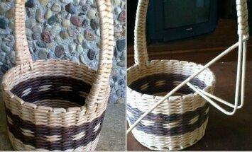 Pasidaryk pats: krepšelis iš vytelių