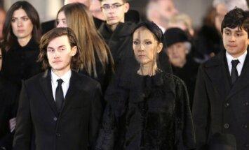 Celine Dion vyro R. Angelilio laidotuvės