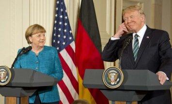 Angela Merkel ir Donaldas Trumpas