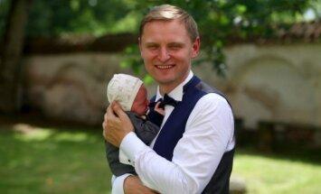 Liudas Mikalauskas su sūnumi Jonu