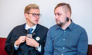 Karolis Jakelevičius ir advokatas Giedrius Danėlius